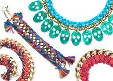 http://shopruche.blogspot.com/2011/07/project-diy-update-your-chains.html    DIY Woven Bracelets Julia Petit