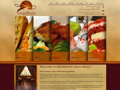 B2 Web Studios' Joomla website design for GingeRootz Asian Grille - Appleton, Wisconsin - http://gingerootz.com