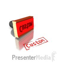 Custom Rubber Stamp PowerPoint Animation