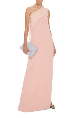 Ruffled One-Shoulder Silk Gown by LANVIN Now Available on Moda Operandi