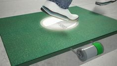 Kinetic energy floor tiles... dang. Facilities could be supplimented just by the footsteps of the people who use them.