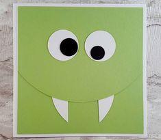 Birthday card little monster card monster card cute monster