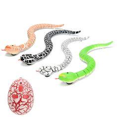 [US$15.23] Remote Control Infrared RC Black Rattlesnake Snake Fun Joke Gag Toy USB Charging #remote #control #infrared #black #rattlesnake #snake #joke #charging