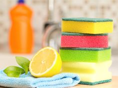 Kitchen sponge smell? Toss it out and learn how to keep your sponges clean to prevent the spread of foodborne bacteria.