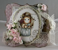 Audhilds Hobbyblogg Mo Manning, Copics, Copic Markers, Simple Style, Peonies, Snow Globes, Diy And Crafts, Magnolias, Psp