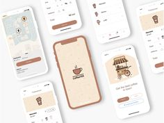 Coffee App - UI Kit by Tanveer Singh You are in the right place about news App Design Here we offer you the most beautiful pictures about the App Design red you are looking for. When you examine the C Design Café, App Ui Design, Mobile App Design, Interface Design, Dashboard Design, Graphic Design, Coffee Shop, App Design Inspiration, Mobile App Ui
