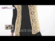 Crochet Vest with Tips - Pattern - Subtitles in English Crochet Coat, Crochet Cardigan, Crochet Clothes, Crochet Summer Tops, Baby Cardigan, Crochet Videos, Crochet Doilies, Baby Dress, Crochet Projects