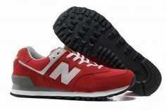 Joes New Balance ML574UA Red White Rings Mens Shoes