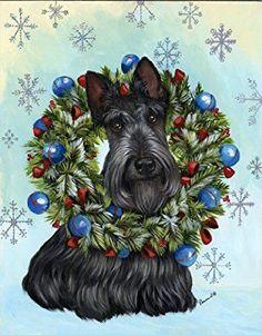 Risultati immagini per danbury mint Scottish terrier christmas dog house