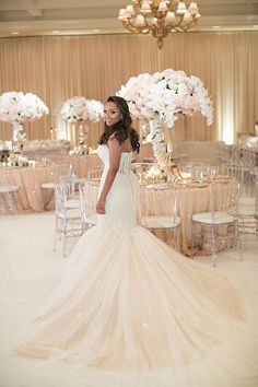 Southern California Wedding Ideas and Inspiration: Luxurious Blush and Gold Wedding at the Montage Laguna Beach by Details Details Gold Wedding Gowns, Gold Wedding Colors, Pink And Gold Wedding, Gold Wedding Decorations, All White Wedding, Blush And Gold, Elegant Wedding, Dream Wedding, Wedding Dresses