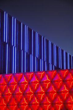 vertical light art installation LED - Google Search
