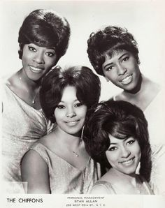 The Chiffons — Founding Members: Judy Craig, Patricia Bennett, Barbara Lee & Sylvia Peterson