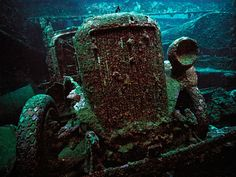 A truck in a hold of the San Francisco Maru at 50m depth in Truk Lagoon