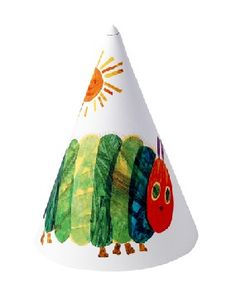Very Hungry Caterpillar Party Hats and party accessories --too stinking cute!  From the Eric Carle Museum