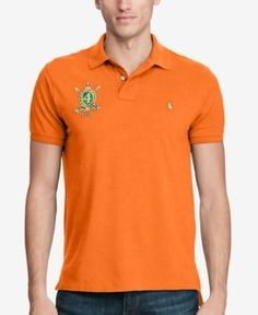 Polo Ralph Lauren Men's Classic-Fit Featherweight Mesh Polo, Only at Macy's  - Orange XS