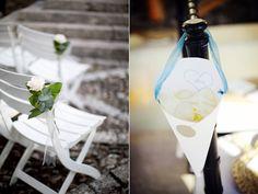 Bonitas propuestas florales para decorar las sillas de una boda civil o un banquete en el jardín desde una boda vintage a una boda rústica y otoñal.