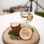 neat wood centerpiece