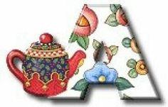 A.   (I just LOVE teapots, teacups and saucers too)} :D  Pretty Teapot Set.
