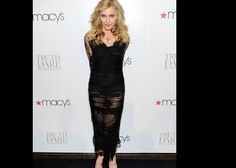 Pics: Material Girl Madonna's cheeky black dress. At 53, she's not shy