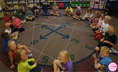 "We make a ""friendship web"" and say something nice about the person they want to throw the yarn to."