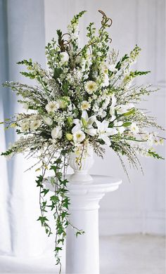 Ceremony flowers-classic altar arrangement