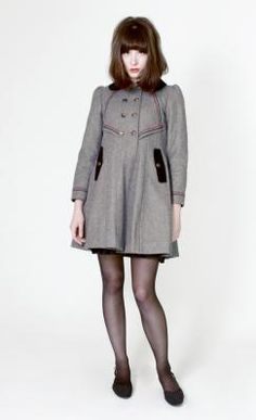 Charlotte Coat by Dear Creatures  this coat is beautiful. the model is beautiful as well.