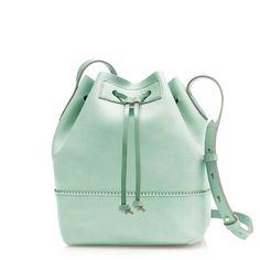 Jcrew Downing bucket bag in rustic mint