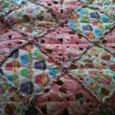 Addyson's cupcake rag quilt.