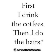 """Happy """"hairs"""" behind the chair! Have a genius Friday m'kay? :) #btcmorningmantra #behindthechair"""