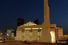 Translucent Concrete Animates the Facade of this Abu Dhabi Mosque,© LUCEM