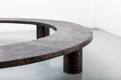 Michele Oka Doner, Bench 'Ice Ring,' 1989. David Gill Gallery.