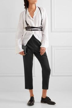 Ann Demeulemeester - Cropped Wool Straight-leg Pants - Black - FR36