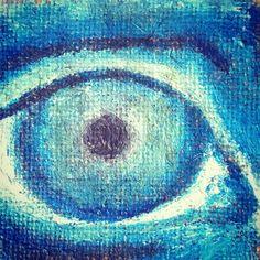 practising my eyes with oils on jute