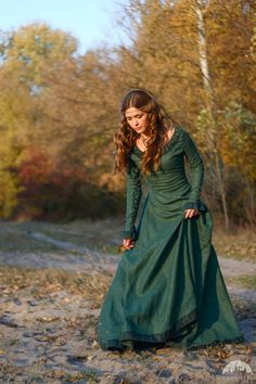 """The """"Autumn Princess"""" dress (in green) is the first item I bought from ArmStreet, and I love it."""
