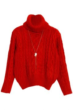 Chic Solid Hollow-Out Turtle Neck Cable Knit Sweater. The sweater featuring cable knit. Hollow out. Cozy up to the comfiest of women's clothing-sweaters! Warm Sweaters, Cable Knit Sweaters, Sweaters For Women, Sweater Outfits, Cardigans, Coupon, Turtle Neck, Comfy, Women's Fashion