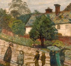 """""""In the Rain"""" by Carel Weight (oil on board)"""
