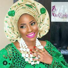 #asoebi #speciallovers #wedding #makeover #asoebispecial #cultural #traditional #headgear #facebeatby @deeqlooks #beadsby @rochem_iyaileke