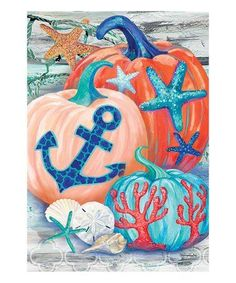 Loving this Coastal Pumpkins Outdoor Flag on #zulily! #zulilyfinds
