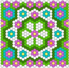 Free diagram: Summer Hexagon Quilt