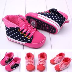 Sale 16% (8.26$) - Baby Toddler Bandage Love Prewalker Rubber Sole Crib Shoes