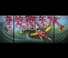 Koi Fish Wall Art Contemporary Art Modern Wall Art Décor Giclee Prints