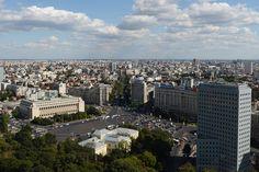 Piaţa Victoriei, Palatul Victoria, bulevardul Lascăr Catargiu. Bucharest, Our World, Romania, Paris Skyline, Dolores Park, Victoria, Travel, Viajes, Destinations