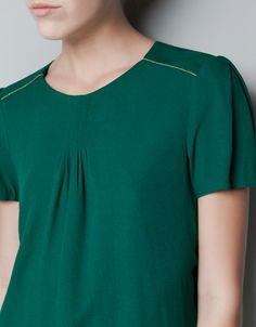 T-SHIRT WITH CHAIN DETAIL ON SHOULDERS - Shirts - Woman - ZARA United States