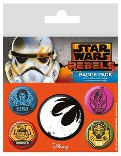 70f7d5cb37d6 Star Wars - Rebels Pin Badge Pack (5 Pins) (BP80480) Manufacturer  Pyramid  International Barcode  5050293804804 Enarxis Code  019118  toys  badges ...