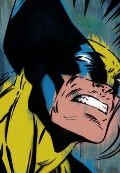 Claws - by Lowercase Industry; love the old school wolverine Wolverine Claws, Wolverine Art, Old Comics, Vintage Comics, Comic Books Art, Comic Art, Dbz, Nerd Art, American Comics