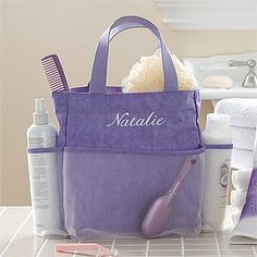 Attrayant Personalized Shower Caddy   Lavendar Spa By PersonalizationMall.com.  $29.95. Our Stylish Lavendar