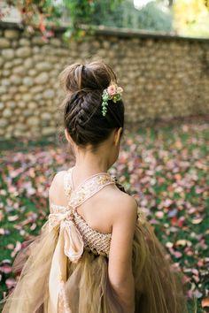 Forest-Inspired flower girl hairstyles