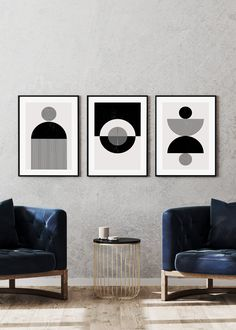 Make a bold statement with these ultra modern black and white abstract prints. Shop small with our UK business :)