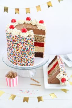 Ultimate Sampler Cake Recipe from @sprinklebakes