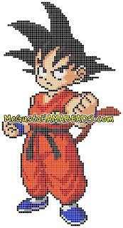 Son Goku, Anime Goku, Modele Pixel Art, Hama Mini, Stitch Character, Anime Pixel Art, Hama Beads Design, Bear Crafts, Perler Bead Art